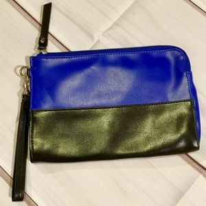 Mossimo Supply Co. black and blue wristlet